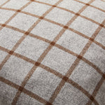 Load image into Gallery viewer, Modern yet Classic Cashmere Cushion in Grey and Brown Checked