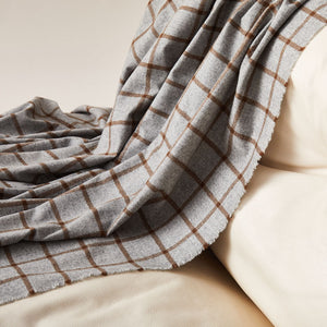 Checked Cashmere Blanket