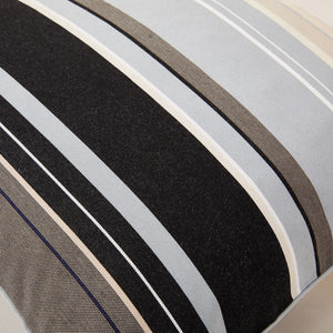 "Lively Striped Cushion in a Technically Advanced Fabric finished with Coordinated Color Piping, 19.7""x19.7"""