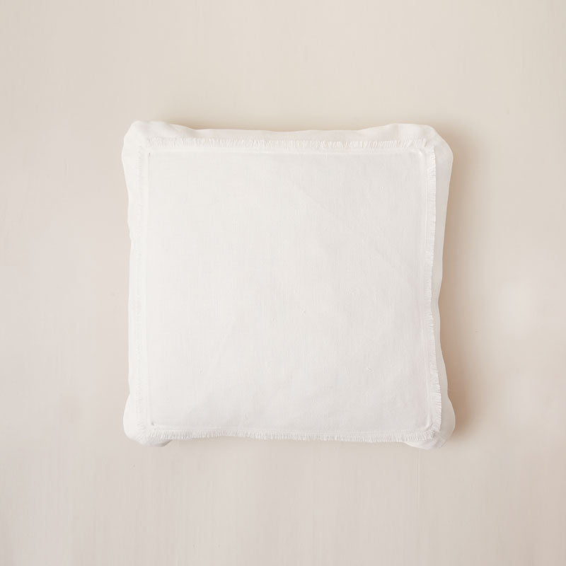 Chicly Styled Hand-Frayed Hemp Cushion