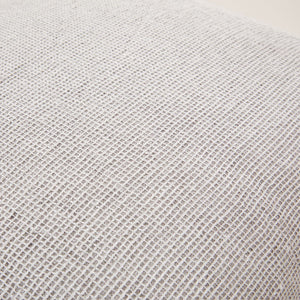 Fresh Linen Cushion Woven in a Honeycomb Texture the color of Pale Stone