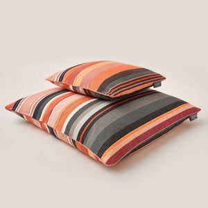 "Lively Striped Cushion in pure Cotton finished with Coordinated Color Piping, 19.7""x19.7"""
