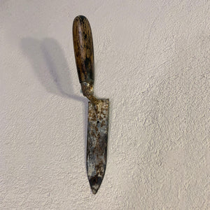 Artful Wall Hooks Recycled from a Treasure of Unique Trowels