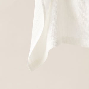 Honeycombed Textured Linen Set of Hand Towels in Latte color