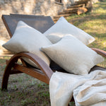 Load image into Gallery viewer, Soft Crinkled Linen Cushion in Oat color