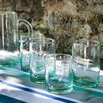 Load image into Gallery viewer, Recycled Medium Glass Tumbler in a Set of 6 in Sea-Green
