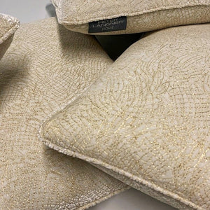 Elegant and Soft Silk Velvet Cushion Embroidered with Gold Thread