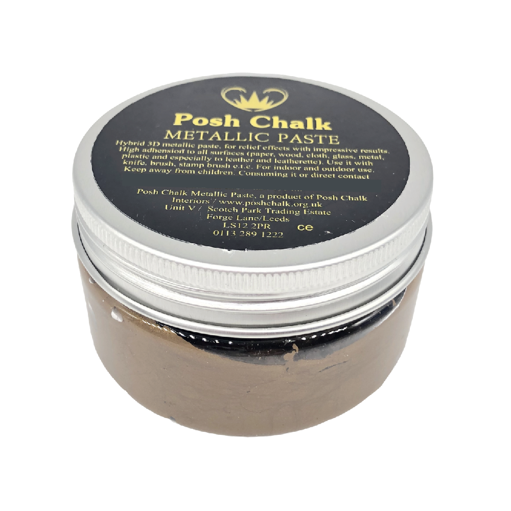 Posh Chalk Smooth Metallic Paste - Deep Gold -110ml