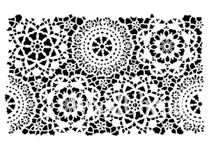 "Posh Chalk Stencil ""Hippy Lace"""