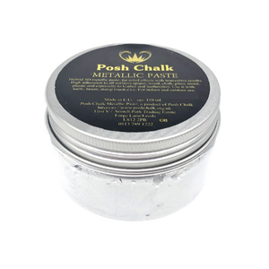 Posh Chalk Smooth Metallic Paste - White Titamium - 110ml