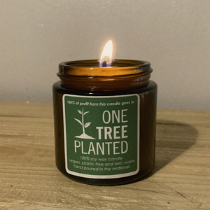 The Second Life Candle Co. One Tree Planted Charity Candle - Sandalwood