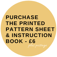 drop sleeve top pattern sheet and instruction book