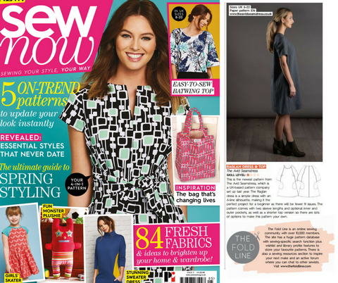 The Avid Seamstress feature in Sew Now magazine