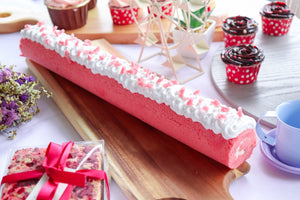 Decorated Mini Rose Swiss roll (Tray of 5)