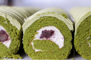 Mini Matcha Red Bean Swiss roll (Tray of 5)