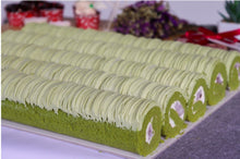Load image into Gallery viewer, Mini Matcha Red Bean Swiss roll (Tray of 5)