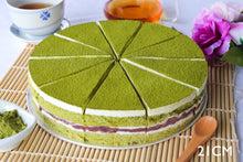 Load image into Gallery viewer, Matcha Red Bean Cake