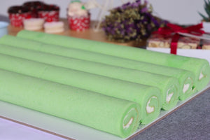 Mini Pandan Swiss roll (Tray of 6)