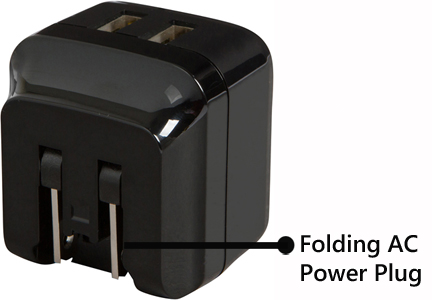 This product is equipped with folding AC power plug