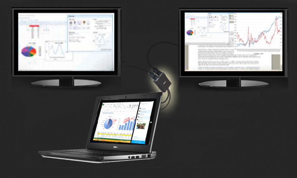 This multi-display mst hub expand your compacted view to two additional displays, providing efficiency and productivity for multi-tasking