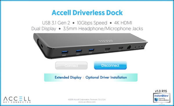The Accell driverless dock offers a simple and user-friendly interface which requires no driver and IT experience to use