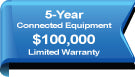 This product is protected with 5-year $100,000 limited warranty