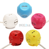 Accell Power Cutie - Compact surge protector with 3 surge-protected outlets and  4 USB charging ports