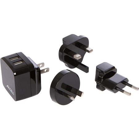 Home or Away Dual USB Charging Kit with International Plug Adapters