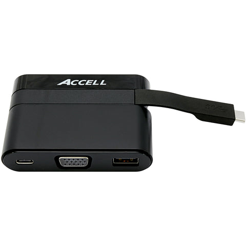 USB-C Mini Dock - VGA, USB-A 3.0, and USB-C Charging Port