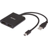 UltraAV® Mini DisplayPort 1.2 to 2 DisplayPort Multi-Display MST Hub