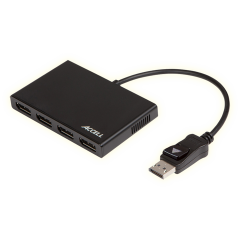 UltraAV® DisplayPort 1.2 to 4 DisplayPort Multi-Display MST Hub