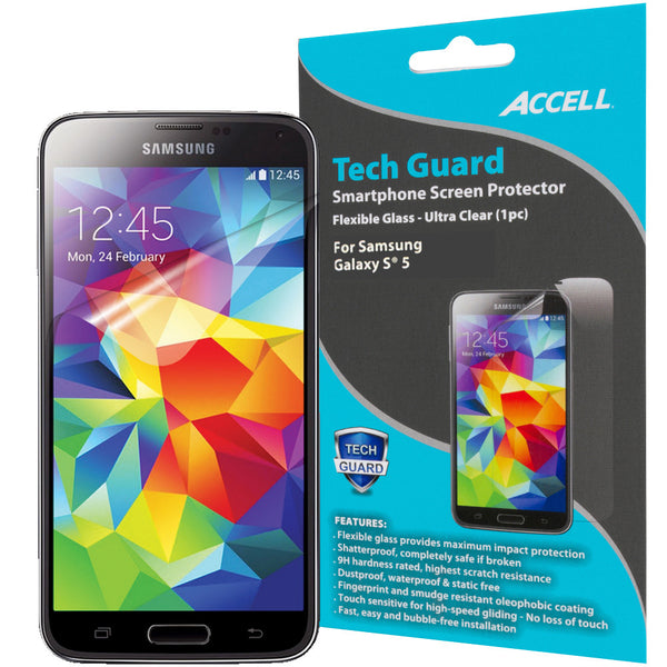 Tech Guard Flexible Tempered Glass Screen Protector
