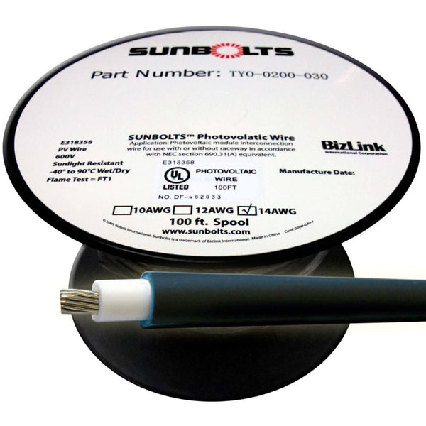 Sunbolts™ Photovolatic Wire, 10AWG