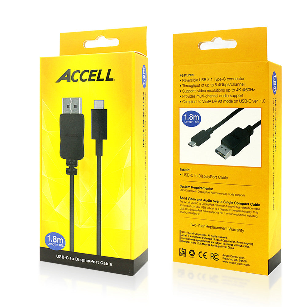 1.8 Meters Accell A001B-006B USB-A to USB-B 2.0 Hi-Speed Cable 6 Feet