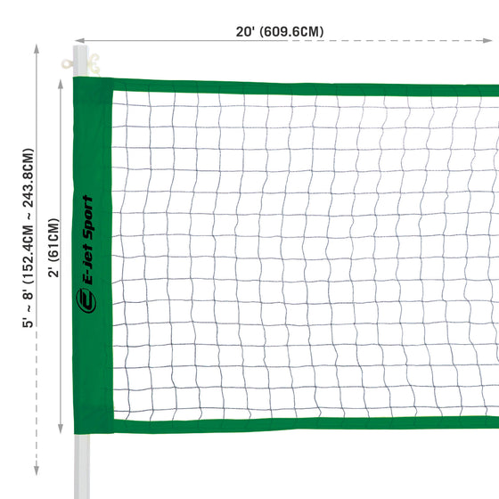 Badminton and Volleyball net dimensions