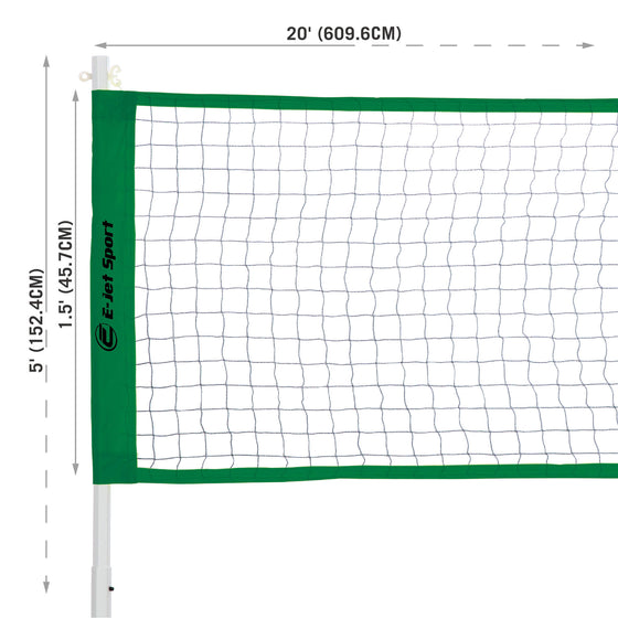 Badminton net dimensions