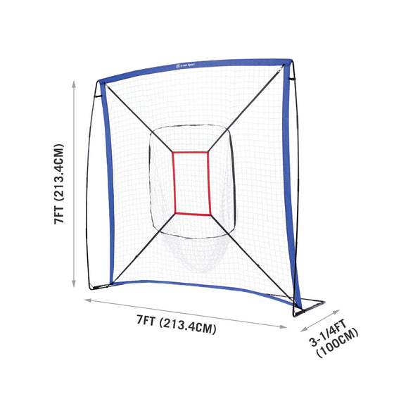 Baseball Practice Net for Pitching and Hitting - dimensions