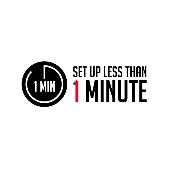 1 minute set-up logo