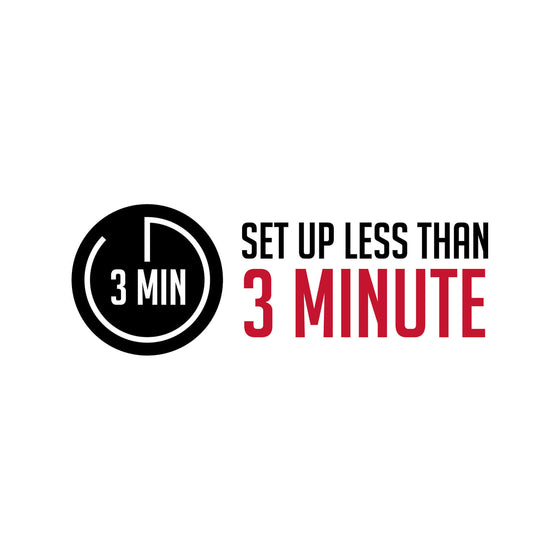 3 minute set up logo