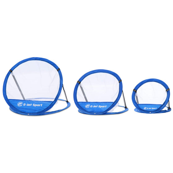 Golf Chipping Training Net Set with 3 Targets - illustrating different sized nets