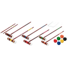 6-Player Croquet Set with Various Mallet Sizes