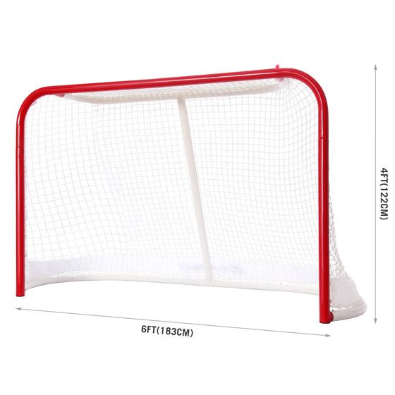 Competition Steel Hockey Goal Net dimensions