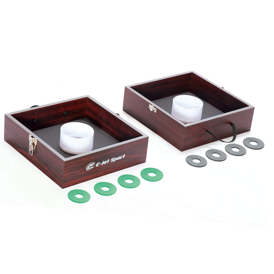 Portable Wood Washer Toss Game Set