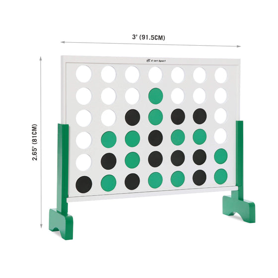 Oversized 4-to-Score Jumbo Game Set - dimensions