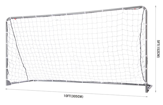 Competition Steel Foldable Soccer Goal Net Dimensions