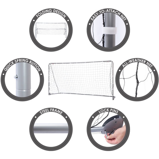 Steel Foldable Soccer Goal Features