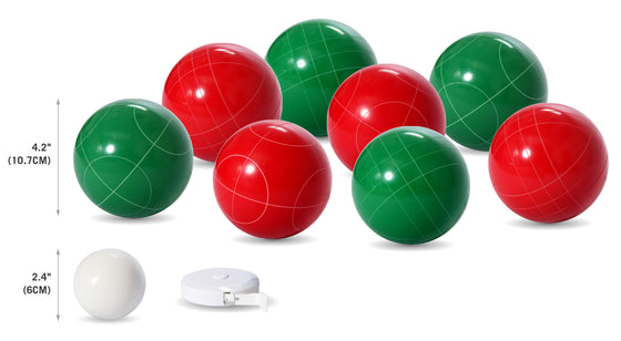 107 mm Solid Resin Bocce Ball Set