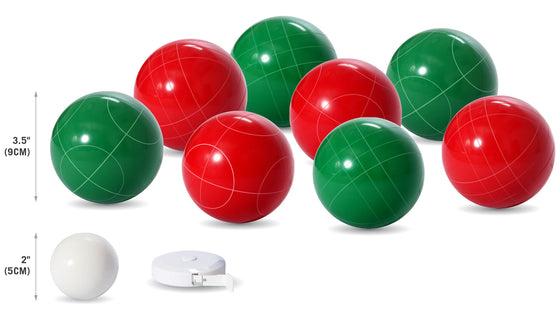 90 mm Solid Resin Bocce Ball Set