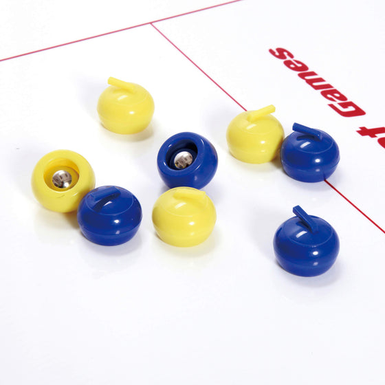 E-Jet Games 2-in-1 Curling and Shuffle Board Challenge with 8 color-coded rollers