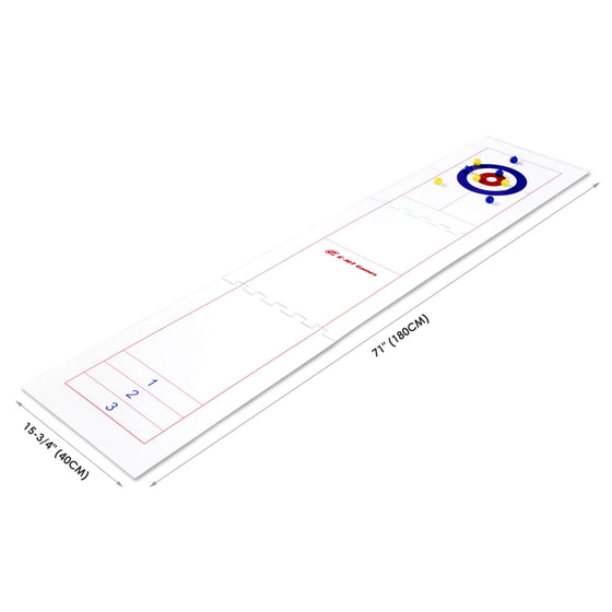 E-Jet Games 2-in-1 Curling and Shuffle Board Challenge